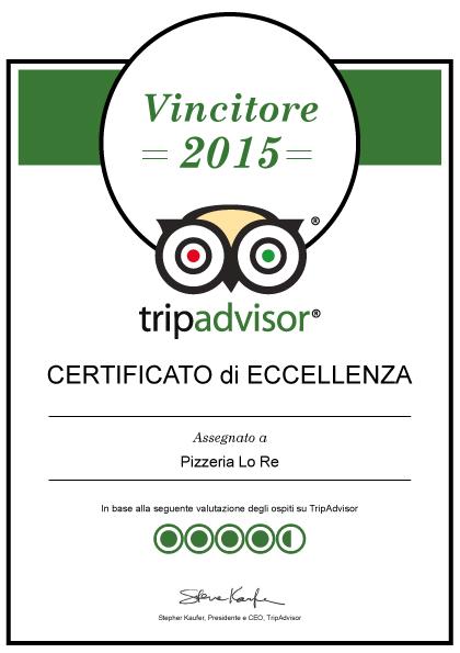Vincitore 2015 Tripadvisor Lecce